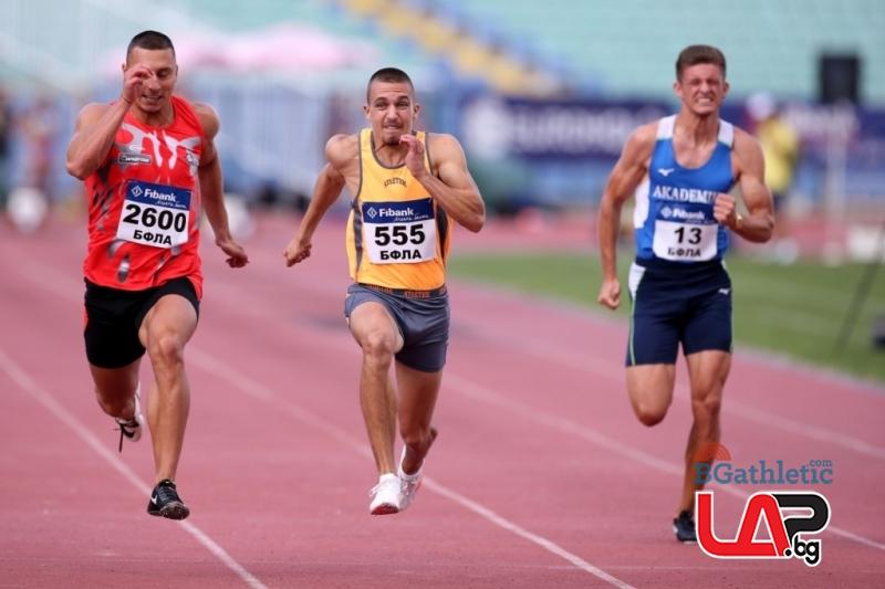Антонио Иванов с първа титла при мъжете на 100 м